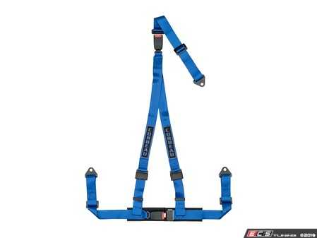 ES#4005602 - 43205B - Blue 3-Point Double Release Bolt-In - Upgrade your factory seat belts with these Corbeau 3-Point Harness Double Release belts - Corbeau - Audi BMW Volkswagen Mercedes Benz MINI Porsche
