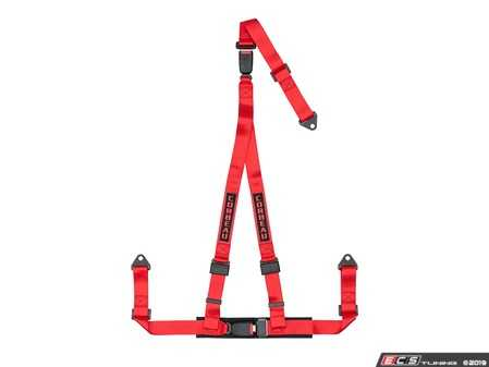 ES#4005603 - 43207B - Red 3-Point Double Release Bolt-In - Upgrade your factory seat belts with these Corbeau 3-Point Harness Double Release belts - Corbeau - Audi BMW Volkswagen Mercedes Benz MINI Porsche