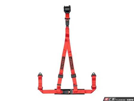 ES#4005606 - 43307B - Red 3-Point Retractable Bolt-In - Upgrade your factory seat belts with these Corbeau 3-Point Harness Retractable belts - Corbeau - Audi BMW Volkswagen Mercedes Benz MINI Porsche