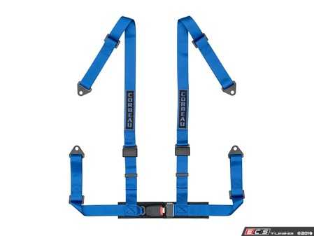 ES#4005609 - 44005B - Blue 4-Point Bolt-In - Upgrade your factory seat belts with these Corbeau 4-Point Harness belts - Corbeau - Audi BMW Volkswagen Mercedes Benz MINI Porsche