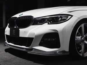 ES#4017298 - 3101-32021 - G20 / G21 3-Series M-Sport Carbon Front Lip - An aggressive and eye-catching detail that perfectly flows with the M Sport bumper. - 3D Design - BMW