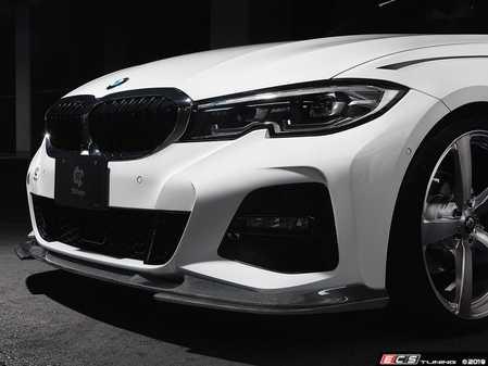 ES#4017297 - 3102-32011 - G20 / G21 3-Series Carbon Under Splitter Set - The perfect way to accentuate the M Sport carbon fiber lip. - 3D Design - BMW