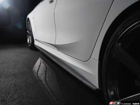 ES#4017301 - 3104-32011 - G20 3-Series M-Sport Side Skirt Set - Accentuate the aggressive look of your side skirts with these carbon fiber extensions from 3D Design. - 3D Design - BMW