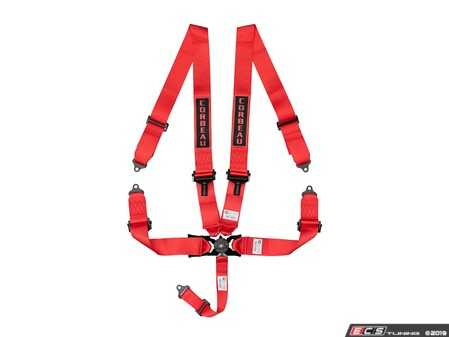 ES#4005621 - 53007B - Red 5-Point Camlock - Upgrade your factory seat belts with these Corbeau 5-Point Harness belts - Corbeau - Audi BMW Volkswagen Mercedes Benz MINI Porsche