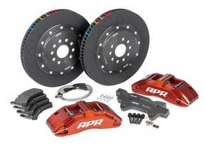 ES#4017341 - BRK00008  - Front Big Brake Kit (380x34) - Red - Red, 6-piston calipers with floating 2-piece rotors, and performance pads - APR - Audi Volkswagen