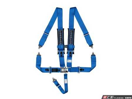 ES#4005726 - LL53005B - Blue 5-Point Latch & Link - Upgrade your factory seat belts with these Corbeau 5-Point Harness belts - Corbeau - Audi BMW Volkswagen Mercedes Benz MINI Porsche