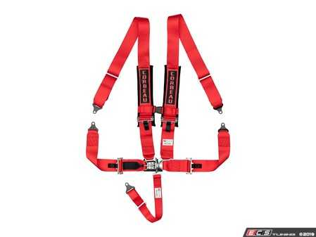 ES#4005727 - LL53007B - Red 5-Point Latch & Link - Upgrade your factory seat belts with these Corbeau 5-Point Harness belts - Corbeau - Audi BMW Volkswagen Mercedes Benz MINI Porsche