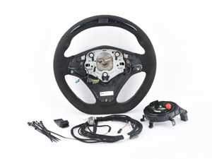 ES#4017500 - 32302165396sd - BMW Performance Steering Wheel - *Scratch And Dent* - Features a multifunction display, adjustable shift lights, and alcantara covered gripping surfaces - Genuine BMW M Performance - BMW