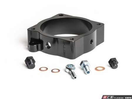 ES#4017691 -  CTS-HW-370  - CTS Turbo 2.5T Throttle Body Spacer / Boost Tap - Machined from solid billet with two ports; one port is used for water meth injection, while the other for a boost gauge. - CTS - Audi