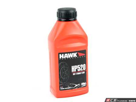 ES#3978854 - HP520 - HP520 Street Brake Fluid - 500ml - Made for high performance street specifications and handles a higher dry boiling point than a typical off the shelf brake fluid. - Hawk - Audi BMW Volkswagen Mercedes Benz MINI Porsche