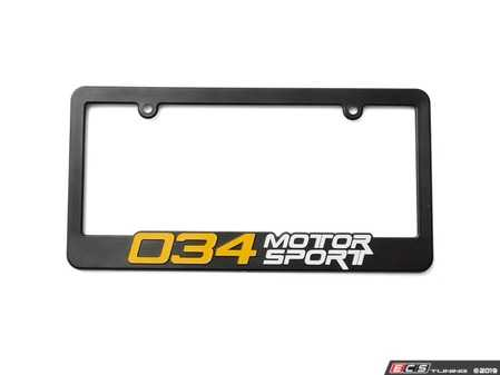 ES#4020124 - 034-A03-0000 - 034 Motorsport License Plate Frame  - Fear no more, drive with ease and confidence with the 034Motorsport license plate frame! - 034Motorsport - Audi BMW Volkswagen Mercedes Benz MINI Porsche