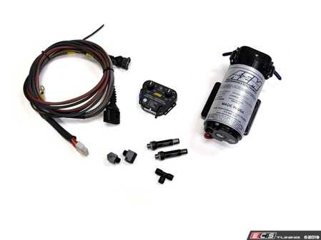 ES#4020125 - 034-109-0000 - 034Motorsport Complete Plug-In Water/Methanol Injection Kit - Designed to be the ultimate plug in WMI solution for the 2.7T, this kit is features an AEM pump, controller, and nozzles, paired with custom fittings and a plug-in harness made by 034Motorsport. - 034Motorsport - Audi