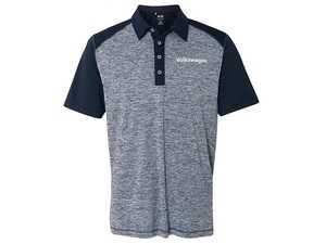 ES#3708135 - DRG000985BLUMD - Adidas Heather Block Polo - Ultra light-weight perfect for your on the go lifestyle. - Genuine Volkswagen Audi - Volkswagen