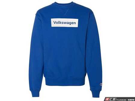 ES#3992849 - DRG002522RYLXL - Champion Sweatshirt - XL - Stay warm on your next jog outdoors or while you're sitting around the campfire on those chilly fall nights. - Genuine Volkswagen Audi - Volkswagen