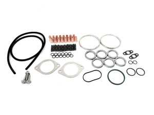 ES#3996425 - 11537545302 KT - N54 Turbocharger Lite Installation Kit - Front And Rear - All hardware required for a successful install minus the t-bolt clamps and pancake pipe gaskets - Assembled By ECS -