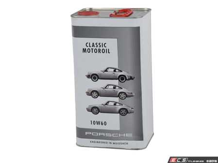 ES#3601974 - PCG04321015 - Porsche Classic Motor Oil - 10W-60 - Specialized oil for air-cooled engines - 5 liters - Genuine Porsche - Porsche