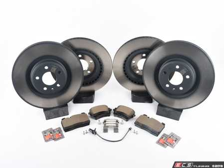 ES#2762528 - 4H0615601HKT5 - Front & Rear Brake Service Kit - Featuring Genuine rotors and pads - Assembled By ECS - Audi