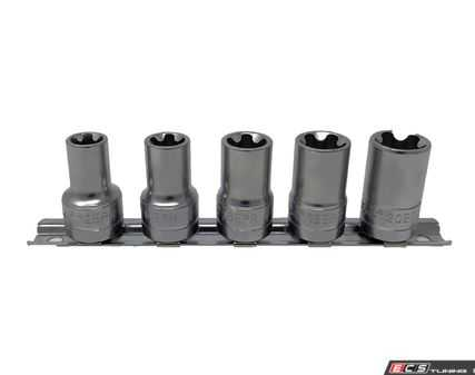 """ES#4028107 - CTA5065 - 5 Pcs. 5 Pt. EPR Torx Plus Socket Set 3/8"""" Dr. - CTA Tools - Audi BMW Volkswagen Mercedes Benz MINI Porsche"""