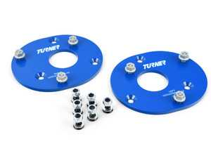 ES#4000648 - 025532TMS01 - Front Fixed Camber Plates - Simply and inexpensively adds 2.5 degrees of needed negative camber for reduced understeer and reduced tire wear! - Turner Motorsport - BMW