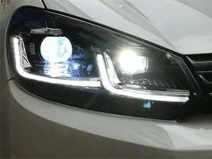 ES#4028183 - HVWG6HL-75CH7 - MK7.5 Style Headlight Set - Chrome Trim - MK7.5 looks with MK6 fitment. Features switchback DRLs/sequential indicators. - Helix - Volkswagen