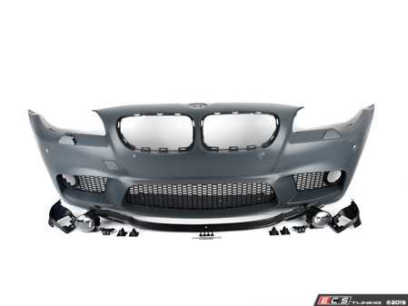 ES#3674374 - F10M5FTPDC - M5 Style Front Bumper - Add the more aggressive front bumper from the M5 - ECS - BMW