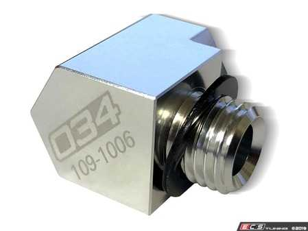 ES#4029498 - 034-109-1006 - Water/Meth Adapter - 90 Degree - The 034Motorsport 90-Degree Adapter is the perfect solution when looking to route your water/meth nozzle in tight spaces under the hood. - 034Motorsport - Audi