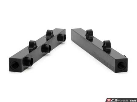 ES#4029655 - 034-106-7016RS4 - 034 Fuel Rail Pair With Brackets - Includes reversible brackets which allow the use of either short or tall bodied injectors, fits all 2.7T and RS4 intake manifolds. - 034Motorsport - Audi