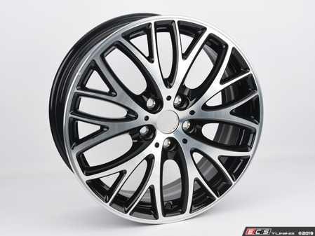 "ES#4029466 - 36116855102sd - 506 MINI JCW BBK Cross Spoke Wheel 18"" (5x112) - Black Gloss Turned - Priced Each - *Scratch And Dent* - 7J X 18 ET:54 - Genuine MINI - MINI"