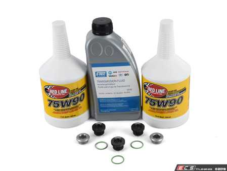 ES#4007139 - 07512293972t1KT - Complete Xdrive Differential And Transfer Case Service Kit - Includes everything you need to drain and refill both differentials and the transfer case with high-performance synthetic differential fluid and ECS magnetic drain plugs. - Assembled By ECS - BMW