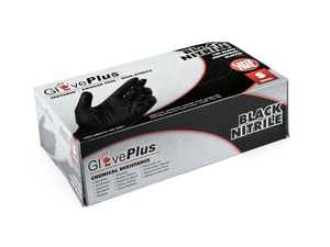 ES#3674423 - GPNB42100 - GlovePlus Black Nitrile Gloves  - Box of 100 - Keeps hands free of dirt and oil, size small. - Ammex - Audi BMW Volkswagen Mercedes Benz MINI Porsche