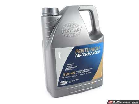 ES#2167 - PEN 5W-40 5L - Pento High Performance II Engine Oil (5w-40) - 5 Liter - The latest version of one of the world's best all around synthetic engine oils - Pentosin - Audi BMW Volkswagen Mercedes Benz Porsche