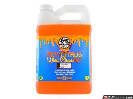 ES#3450476 - CLD105 - Sticky Gel Citrus Wheel Cleaner (1 Gal) - Sticky Citrus Gel is a thick viscosity wheel cleaner that clings to wheels and rims. - Chemical Guys - Audi BMW Volkswagen Mercedes Benz MINI Porsche