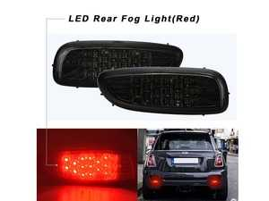 ES#4000128 - V-150118 - LED Smoked Union Jack Rear Bumper Fog Light - Replaces the factory rear fog lights (if optioned) with LEDs - Vinstar - MINI