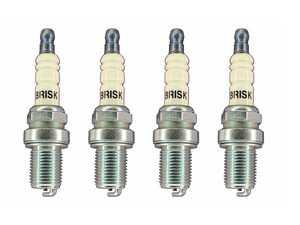 ES#4033195 - dr12sKT - Brisk Silver Racing DR12S Spark Plug - Set Of Four - Featuring silver fine wire center electrode - Superior ignition ability increases engine power! - Brisk - Audi Volkswagen MINI