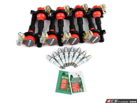 ES#4029383 - 12131703228 - Performance Ignition Service Kit - Everything you need to service your ignition system including NGK spark plugs and Bav Auto ignition coils - Assembled By ECS - BMW