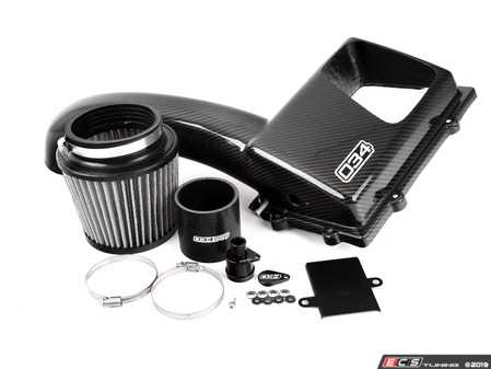 ES#3647322 - 034-108-1020 - X34 Carbon Fiber Open-Top Cold Air Intake  - All new open-top design allows for more intake tract sounds at a louder volume, while providing great performance gains! - 034Motorsport - Audi Volkswagen