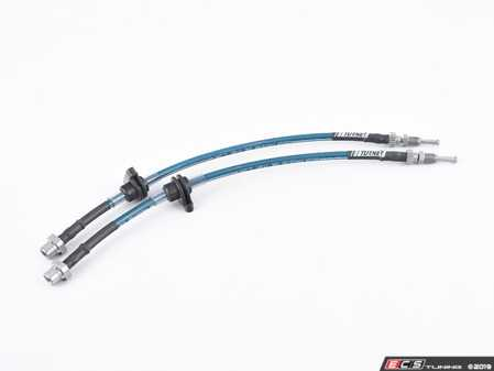 ES#4030671 - 027618TMS01 - Turner Motorsport Stainless Steel Brake Lines - Front - Sporting new low profile hardware! Finished with a new zinc-nickel coating for exceptional corrosion resistance. DOT compliant and made in USA! - Turner Motorsport - MINI