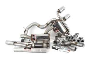 """ES#3426570 - 765310 - MK5 R32 2.75"""" Complete Exhaust System - Street Performance Pack - Stainless steel resonated complete exhaust system with round, 4"""" polished tips - Supersprint - Volkswagen"""