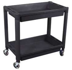 ES#2938821 - ATD7016 - 2-Tray Black Plastic Cart - ATD Tools - Audi BMW Volkswagen Mercedes Benz MINI Porsche