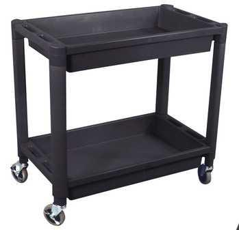 ES#2938821 - ATD7016 - 2-Tray Black Plastic Cart - ATD Tools - Audi BMW Volkswagen Mercedes Benz MINI Porsche