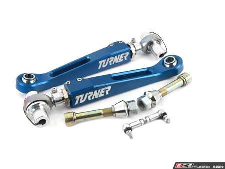 ES#3988303 - 025990TMS02 - Turner Performance Lower Control Arms - Pair - Fully adjustable roll center, camber, and track width performance control arms that feature headlight adjusting rods! - Turner Motorsport - BMW