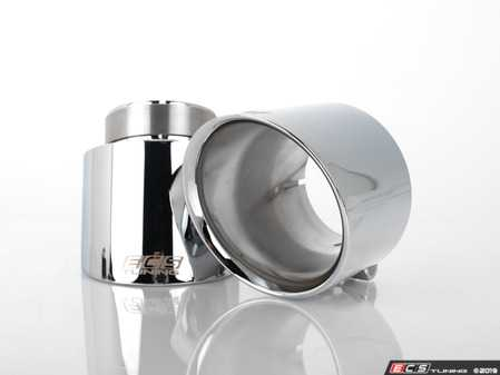 """ES#3623910 - 024383ecs01-01KT - MK6 / MK7 GTI 4.0"""" OE Fit Exhaust Tips - Chrome - Pair - A pair of direct-fit exhaust tips for your VW MK6/MK7 GTI OE exhaust system - ECS - Volkswagen"""