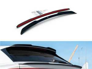 ES#4039557 - AU-Q8-1-SLINE-C - Spoiler Extension V.2 - Carbon Look - ABS plastic spoiler extension that will enhance the look of your vehicle in minutes! - Maxton Design - Audi
