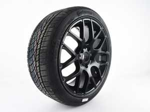 """ES#4039423 - 15499770000KTsd - 18"""" Style 349 Wheel & Tire Assembly - 225/40R18 - Priced Each - *Scratch And Dent* - 18""""x8"""" ET35 5x112 - Matte Black - With Continental ExtremeContact DWS06 Tire - Continental - Audi Volkswagen"""