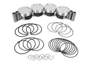 ES#3107786 - JEFSI279931 - JE Forged Piston Set - Includes rings, wrist pins, and pin locks - 83mm bore +.5mm overbore, 9.04:1 CR, 92.8mm stroke (stock) - JE Piston - Audi Volkswagen