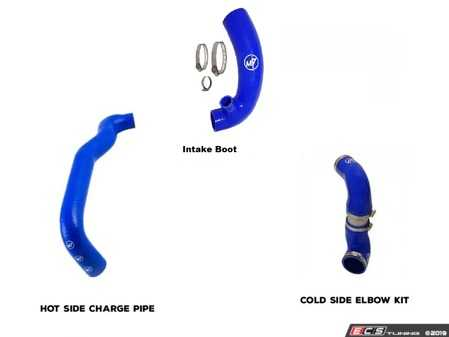 ES#4039992 - 56-314303 - N14 Intake, Hot Side & Cold Side Hose Kit | Blue - The three main intake hoes in the engine bay all upgraded to silicone in matching colors. - M7 Speed - MINI