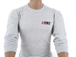 ES#4023687 - 6060742 - Gray ECS Long Sleeve T-Shirt - Medium - Featuring full color ECS Tuning logo on left chest and full back - ECS - Audi BMW Volkswagen Mercedes Benz MINI Porsche