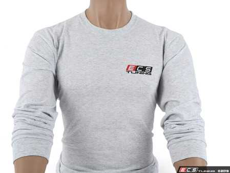ES#4023687 - 6060742 - Gray ECS Long Sleeve T-Shirt - Medium - Featuring full color ECS Tuning logo on left chest and full back - ECS - Audi BMW Volkswagen Mercedes Benz MINI Porsche