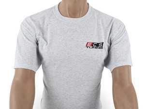 ES#4013741 - 6060715 - Gray ECS Short Sleeve T-Shirt - 2X - Featuring full color ECS Tuning logo on left chest and full back - ECS - Audi BMW Volkswagen Mercedes Benz MINI Porsche