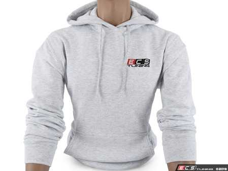 ES#4013749 - 6060730 - Ash ECS Pullover Hoodie - Small - Featuring full color ECS Tuning logo on left chest and full back - ECS - Audi BMW Volkswagen Mercedes Benz MINI Porsche